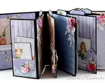 Handmade Scrapbook Mini Album, Handgemachtes Album, Memory Album, Photo Mini Album, Keepsake Mini Album