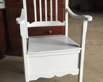 Antique victorian chair commode