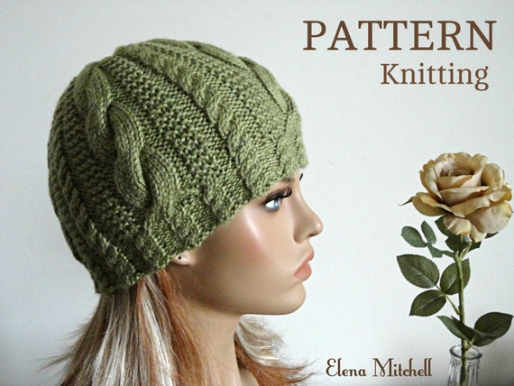 Knitting Pattern Girls Beanie Women Hat Accessories Children Hat