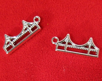 """5pc """"London Tower bridge"""" charms in silver style (BC978)"""