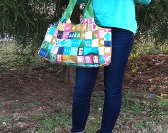 Handmade Scoop Tote in Playful