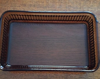 Vintage Brown Glass Anchor Hocking Casserole Dish