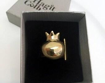 ON SALE Adjustable Pomegranate  Ring - Pomegranate -  Pomegranate 14k Gold Ring