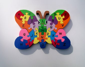 Wooden Puzzle Butter Fly Alphabet