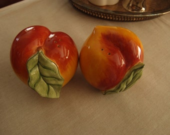 Peach Salt and Pepper Shakers