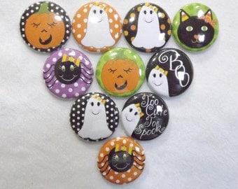"Cute Halloween  1"" Round  Buttons"