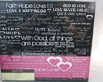 """Recollections 12""""x12"""" Faith Hope Love Scrapbook 10 Pages"""