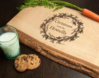 Personalised Welsh Ash Christmas Serving Board - Serving Board - Christmas Gift - Xmas - Christmas Day Tableware - Roast - FREE UK DELIVERY