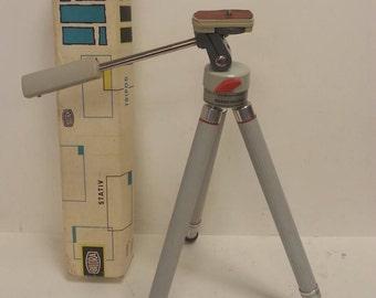 Free Shipping!! Bilora Super Biloret Camera Tripod 2036 Telescoping Brass Legs With Box