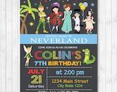 Neverland Invitation, Neverland Invite, Neverland Birthday, Neverland party, Peter Pan Invitation, Peter Pan Invite, Boys invite, printable