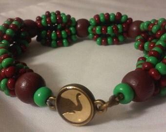 Orula Ilde Brown and Green Bracelet Orula Ilde Africano Santeria Orishas