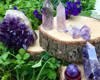 Third Eye & Crown Chakra Set of Amethyst for Spiritual Enlightenment