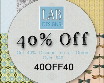 40% Off Discount Coupon Code - Please Don't Purchase This Listing