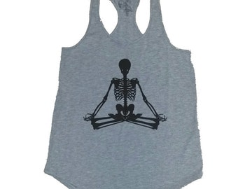 Lotus Skeleton Flowy Tank Top