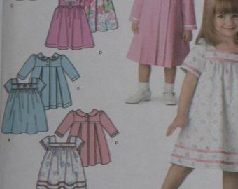 Simplicity 3897 Pattern Toddler Girl Dress & Coat Sizes 1/2, 1, 2