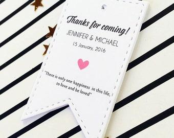 Wedding Wish Tree Tags, Custom Wedding Tags, Thank You Wedding Tags, Favor Bag Gift Tags, 24 pcs
