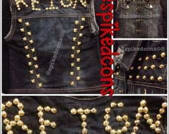 Kids Custom studded denim jacket