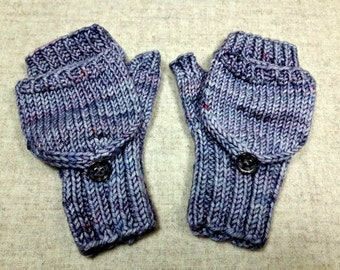 Knitting Pattern For Mittens With Flaps : Flip top mittens Etsy