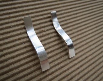 Sterling silver 'Wave' earrings