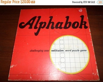Save 10% Today Vintage 1968 Springbrook Board Game Alphabok Solitaire Word Puzzle Game 100 Percent Complete