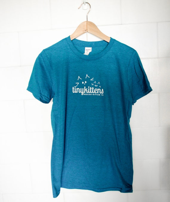 L - UNISEX - Sapphire - Official TinyKittens T-Shirt - 100% of proceeds support animal rescue!