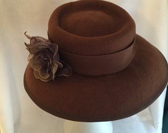 winter brown hat