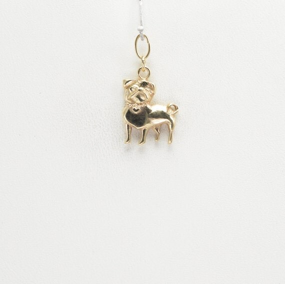 14kt gold pug charm by donna pizarro from by