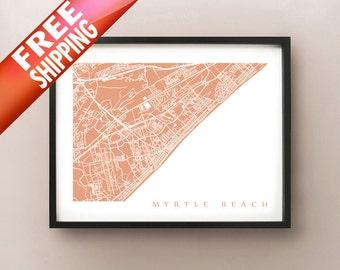 Myrtle Beach Map Print
