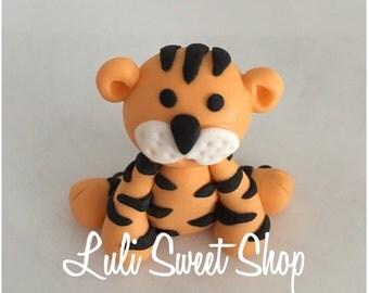 1 tigger Edible Fondant safari Animals cake toppers