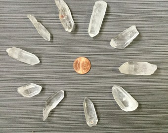 "10pc mini quartz point lot 67g total from 1""-1.5"" mql823 - Ships free in US!"