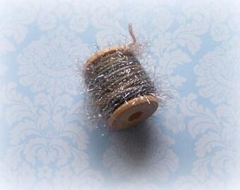 Petite French Tinsel Trim Moondust Wood Spool