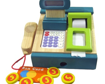 Cash with calculator and scanner