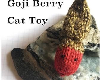 Knitting Pattern: Goji Berry Cat Toy