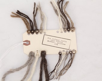 FREE Navajo Churro wool yarn SAMPLE CARD with your yarn order!  Or purchase for 2 dollars.