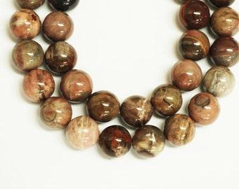 Red Artistic Jasper Round Beads 14mm