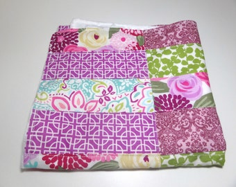 Small Modern Lovey Quilted Minky Blanket, minky baby quilt, minky quilt