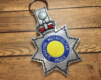 Liverpool Metropolitan - POLICE - Cop - Law Enforcement - In The Hoop - Snap/Rivet Key Fob - DIGITAL Embroidery Design
