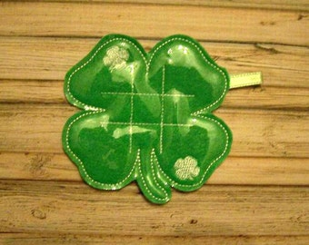 Shamrock - Clover - St. Patty's - St. Patrick's Day Tic Tac Toe Board Game -DIGITAL EMBROIDERY DESIGN