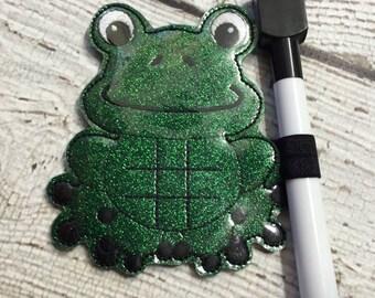 Frog - In the hoop -  Tic Tac Toe Board Game -DIGITAL EMBROIDERY DESIGN