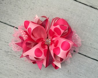 Shades of pink bow