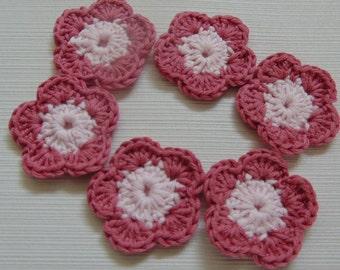 Set Of 6 Handmade Crochet Flower