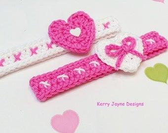 HEARTS AND KISSES Headband Pattern Crochet Headband pattern Hearts headband pattern Valentine headband pattern Valentines day headband - Usa