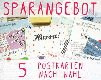 SPECIAL OFFER - 5 postcards of your choosing