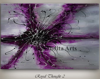 Unique purple wall art, Purple art, Purple Abstract Decorative Art, Purple Painting, Wall Art Decor, purple artwork, Purple Art Gallery