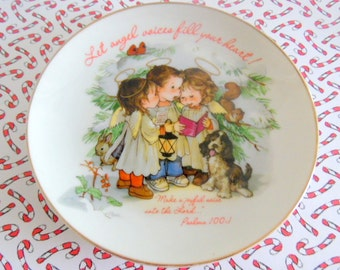 1985 Fine porcelain collector plate.  Lasting Memories, from the Gentle Hearts collection.