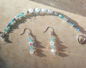 Swarovski Crystal Bracelet and Earrings Set