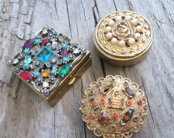 Rhinestone and Pearl Pillbox Collection