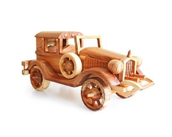 Wooden Toy Classic Car 10 in Handmade