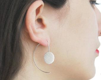 Geometric Drop Earrings, Long Drop Earrings, Modern Earrings, Silver Earring, Statement Earrings, Silver Drop Earring, Silver Dangle Earring