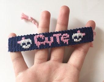 Creepy cute skull friendship bracelet